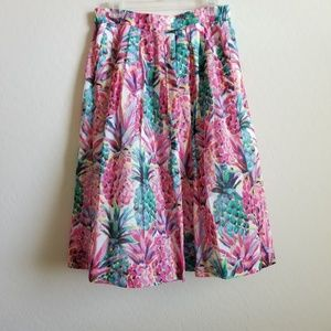J. Crew A-line Skirt in Ratti Painted Pineapple 10